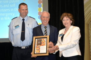 Centacare receiving a Volunteer Employer Recognition Award from DFES.