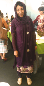 Centacare SEE student dressed up in traditional robe for Harmony Day.