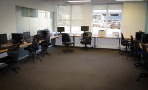 Computer lab classroom at Centacare's Head Office in West Perth.