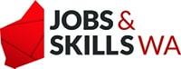 Jobs & Skills WA logo.